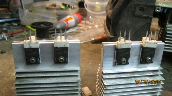 Установка новых igbt транзисторов на радиаторы САИ ресанта 190 проф