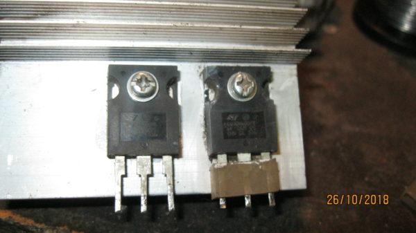 Сгоревшие IGBT транзисторы сварочного аппарата ресанта 250